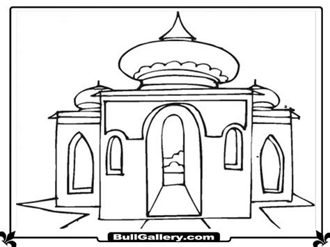 Coloring Mosque by Printable Mosque Coloring Pages Bull Gallery