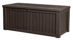 keter rockwood storage box brown wood effect 163 134 garden4less uk shop