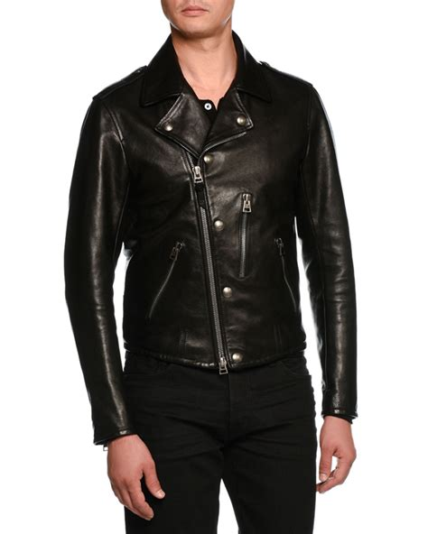 tom ford leather tom ford asymmetric zip leather biker jacket neiman
