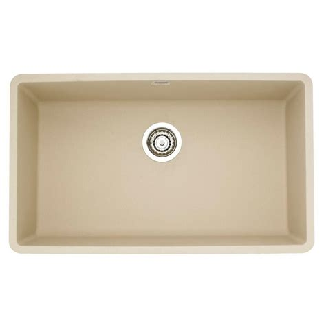 undermount single bowl kitchen sinks blanco precis undermount granite 32 in 0 8736