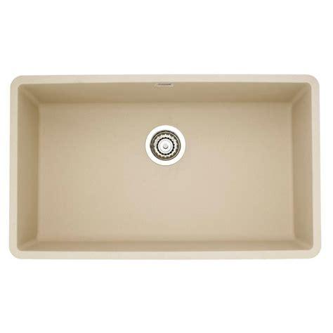 granite single bowl kitchen sink blanco precis undermount granite 32 in 0 6892