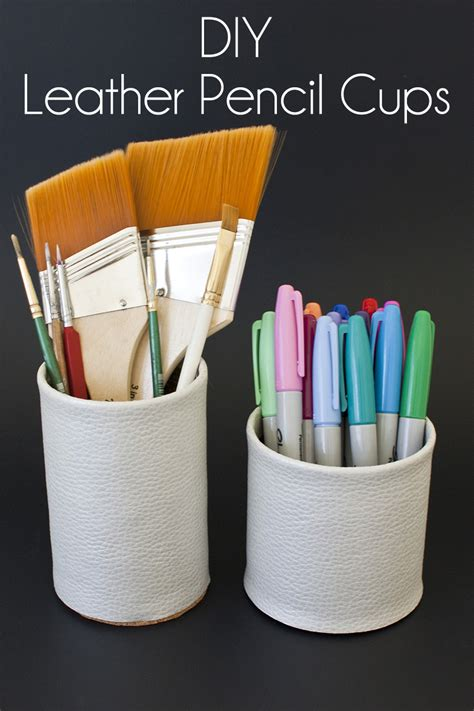 how to make stuff for christmas diy faux leather pencil cup diy in pdx