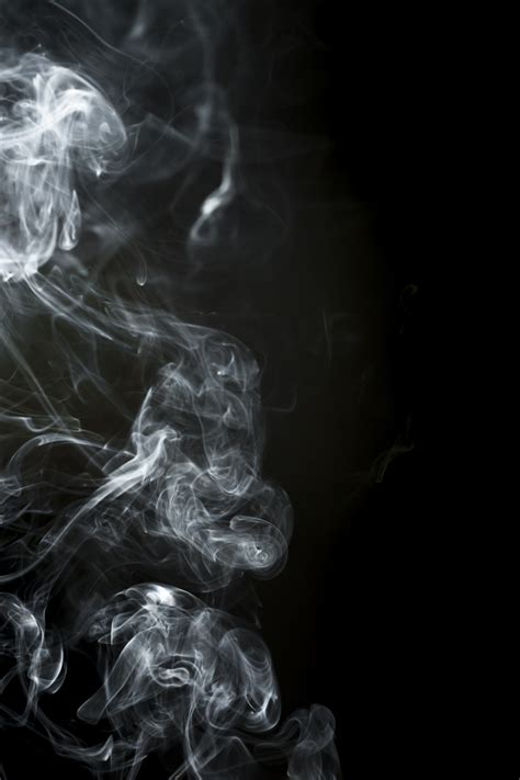 Black Background With Smoke Black Background With Smoke Silhouette Photo Free