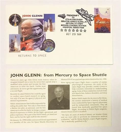 Shop John Glenn Return To Space Cover Sts-95 Online From