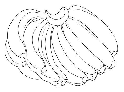 mewarnai gambar buah buahan pisang