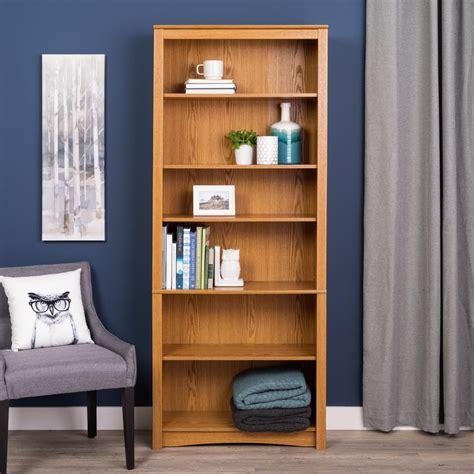 home depot bookcase prepac oak 6 shelf bookcase the home depot canada