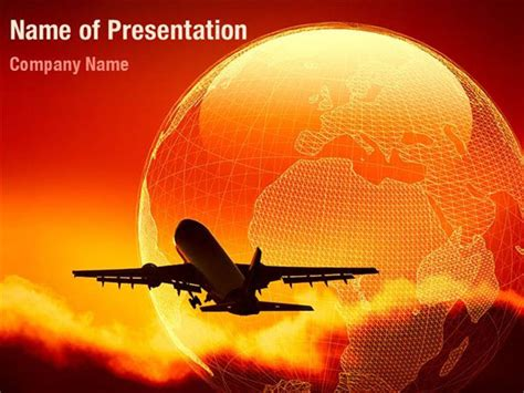 air flight powerpoint templates air flight powerpoint