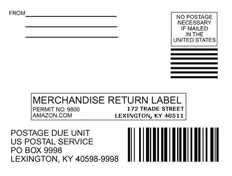 return mailing label
