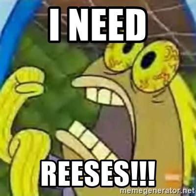 Reeses Meme - i need reeses spongebob chocolate guy meme generator