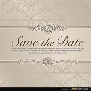 wedding save the date vector freevectorsnet With free online wedding save the date templates