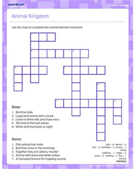 animal kingdom worksheets 4th grade animal kingdom crossword free critical thinking