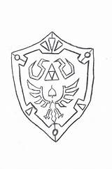 Shield Coloring Outline Pages Hyrule Drawing Medieval Link Ctr Drawings Cliparts Outlines Deviantart Printable Links Awesome Attribution Forget Don Getdrawings sketch template