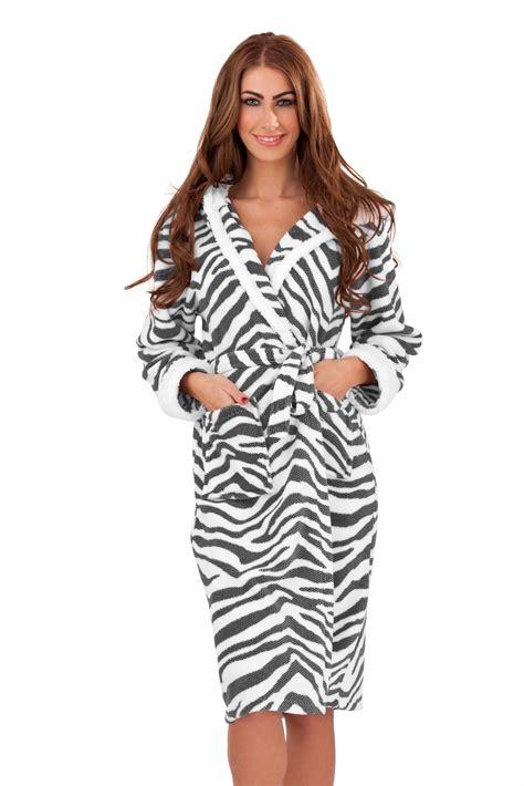 Luxury Womens Full Length Bath Robe Dressing Gown