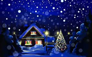 Snowy Christmas Night - WallDevil