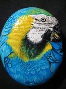 Parrot Hand Painted Rock