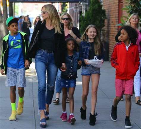 Heidi klum has many business ventures, with her two tv shows, clothing lines, shoes, vs contract, and more. HEIDI KLUM AND KIDS TAKE ON THE BIG CITY