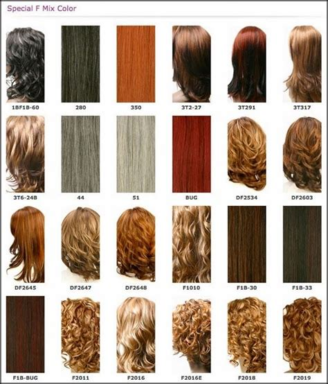 Different Types Of Black Hair Color by Fall In With Hair Color Chart Weave Hair Color