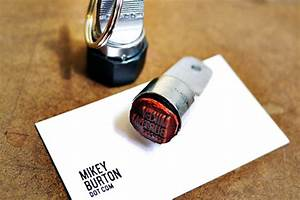 Genius concept - self-inking stamp on your key ring in ...
