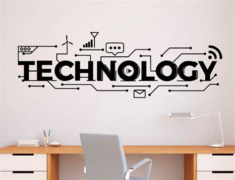 buy technology lettering wall decal vinyl