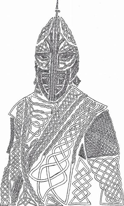Skyrim Coloring Guard Knotwork Pages Drawing Drawings