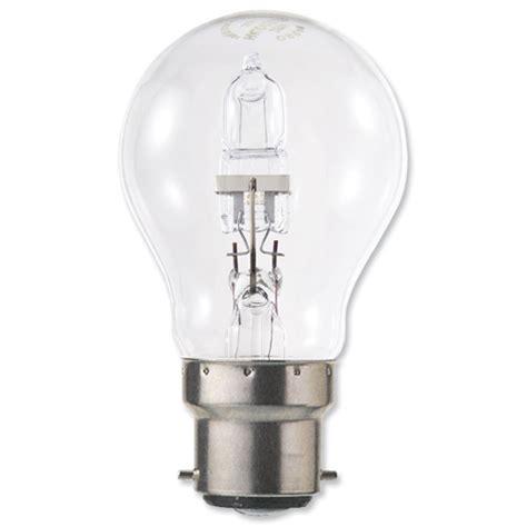 buy light bulb energy saving gls halogen bayonet fitting