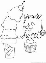 Cream Ice Drawing Coloring Candy Bar Cotton Getdrawings sketch template