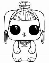 Lol Coloring Doll Pages Print Omg Pets Comments sketch template