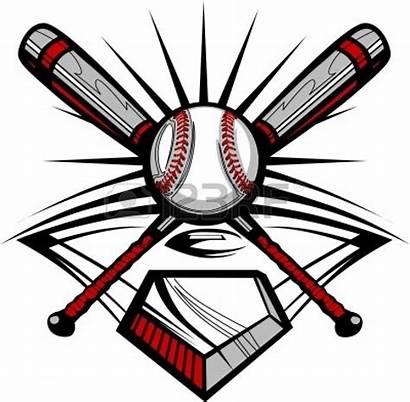 Softball Baseball Clipart Field Ball Bats Template