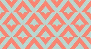 Coral Chevron Wallpaper - WallpaperSafari