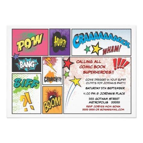 vintages comic buch streifen superheld party laden
