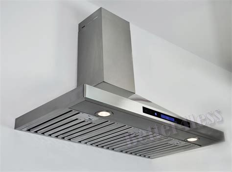 "36"" Wall Mount Stainless Steel Kitchen Range Hood Vent"