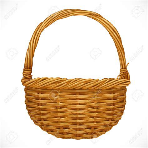 Basket Clipart Basket Empty Wicker Basket Isolated On White Stock Photo