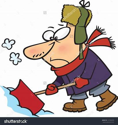 Snow Clipart Shoveling Cartoon Covered Clip Bing
