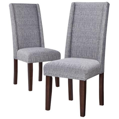 modern wingback dining chair set of 2 ebay