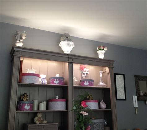 le bureau blanche deco led eclairage idées déco pour les meubles