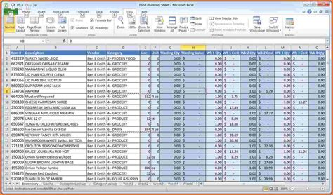 inventory spreadsheet excel excel spreadsheets group