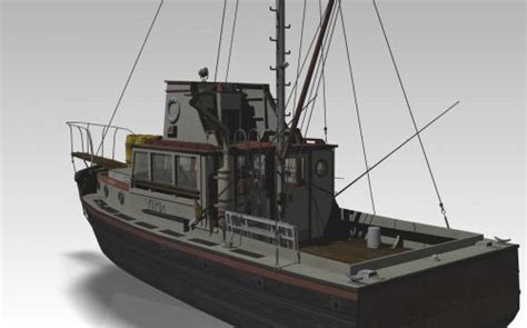 Jaws Orca Boat 3d Model by Downloads Virtualtechart Design