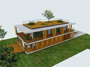 plans d39une maison contemporaine avec toit terrasse With idee amenagement jardin de ville 16 plans dune maison contemporaine avec toit terrasse