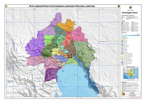 administrasi kota bandar lampung peta tematik indonesia
