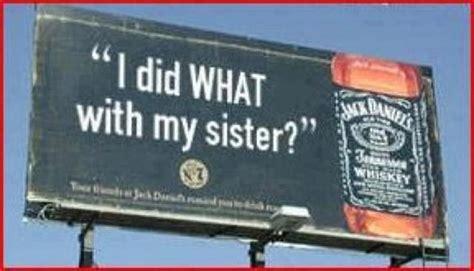 Funny Billboard Advertising jack daniels promo girls     sister 640 x 366 · jpeg