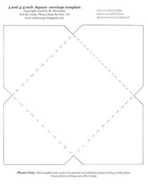 envelope template for 4x6 card 4 and 3 4 inch square envelope template by stztoomuch