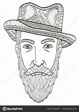 Head Coloring Beard Elderly Illustration Vector Adults Depositphotos Gmail sketch template