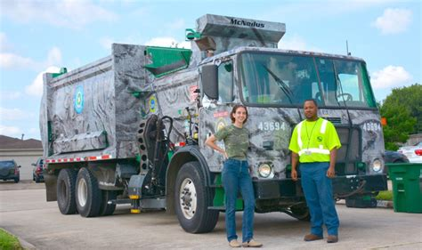 houstons newest art recycle truck hits  streets