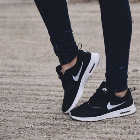 Shoes nike air hipster grunge skinny jeans black skinny jeans socks haute couture ...