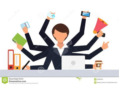 travail de bureau illustration de vecteur de travail de stress du travail de