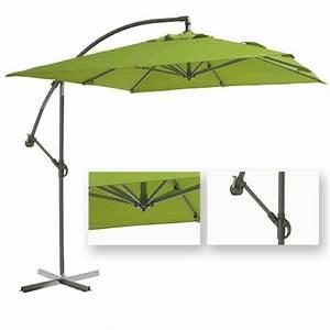 Parasol Inclinable Rectangulaire : parasol rectangulaire inclinable vert ~ Teatrodelosmanantiales.com Idées de Décoration