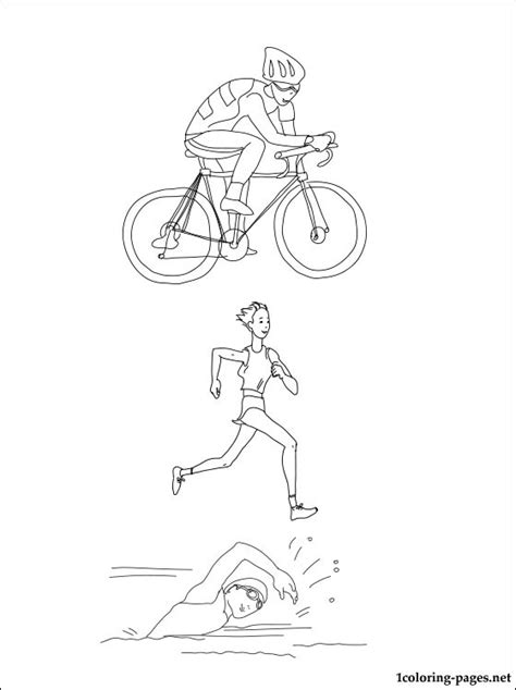 triathlon coloring page coloring pages