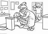 Dentist Zahnarzt Dentysta Coloring Dentists Colorear Colorir Dentistas Ausmalbilder Template Desenhos Imprimir Kolorowanki Drucken Pokoloruj Teraz sketch template