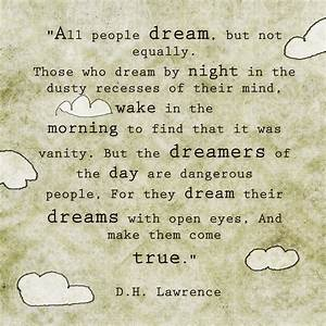 In mY BucKeT.: Quote: Dreams... D.H. Lawrence