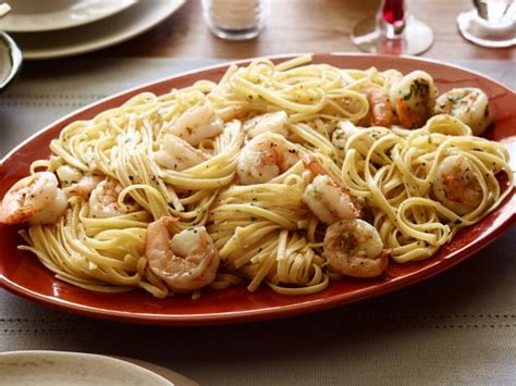 shrimp scampi  linguini recipe tyler florence food